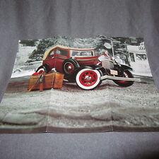 162C Dépliant 27 X 20 Franklin Mint Ford A Bonnie Clide's