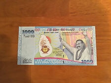 Sri Lanka 2009 1000 Rupees COMMEMORATIVE P-122  UNC