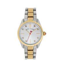 Betsey Johnson Womens Two-Tone Bracelet Watch 36mm BJ00441-04
