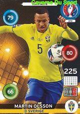 372 MARTIN OLSSON SVERIGE SWEDEN CARD ADRENALYN EURO 2016 PANINI