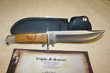 BUCK KNIFE MODEL 124 VINTAGE - RARE 1972 BROWN MICARTA SCALES  1 OF 3 OR 4