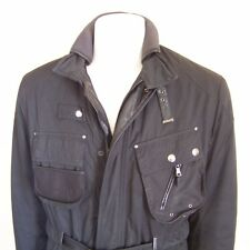 Ralph Lauren Polo Jacket Large Leather Field Coat Utility Belted Combat