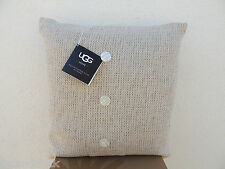 """UGG HOME IVORY BAILEY BUTTON PEARL DOWN FILLED PILLOW  20""""  ~NEW WITH TAGS"""