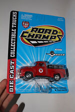 ROAD CHAMPS 1956 FORD PICKUP, TEXACO OIL WITH OIL DRUM LOAD, 1:43, NIB, LOT C