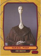 "Star Wars Galactic Files - #29 Red Parallel Card ""Yarael Poof"" #21/35"