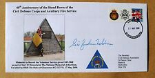 CIVIL DEFENCE CORPS/AUXILIARY FIRE SERVICE 2008 COVER SIGNED SIR GRAHAM MELDRUM