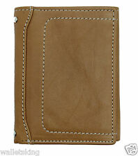 STARHIDE MENS REAL LEATHER TRIFOLD WALLET I.D, CREDIT CARD HOLDER PURSE - 810