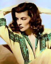 "KATHARINE HEPBURN (2) THE PHLADELPHIA STORY 1940 8x10"" HAND COLOR TINTED PHOTO"