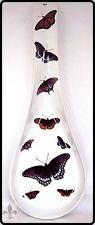 Butterflies Large Porcelain Ceramic Spoon Rest