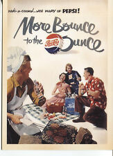 POST CARD WITH A MAGAZINE ADVERTISEMENT PEPSI MORE BOUNCE TO THE OUNCE