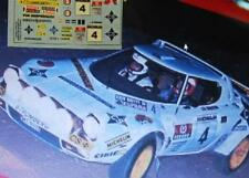 "DECAL CALCA 1/43 LANCIA STRATOS ""CS"" J. DE BAGRATION RALLY RACE 1976"