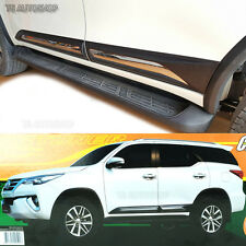 Fitt Chrome Side Doors Cladding Moulding Trims Guards For Toyota Fortuner 2016
