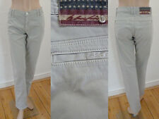 Blue Fire Hose Jeans Chinos Leicht Straight Leg Stretch Beige Gr 38 Top Zustand