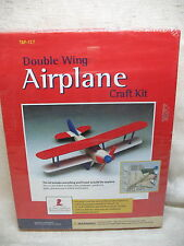PRE-CUT/PRE-DRILLED COMPLETE DOUBLE-WING AIPLANE WOODEN CRAFT KIT TAF-137 SEALED