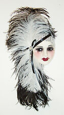 Unique Creations Lady Face Mask Wall Hanging Decor - Black & White