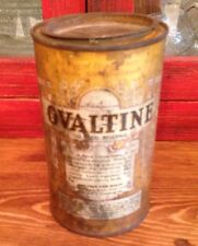 "Ovaltine Tin 6.25"" High ""A Food Discovery from Switzerland""  VINTAGE"