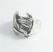 Vintage Woman 316L Stainless Steel Vogue Design Mini Eagle Ring Size 11