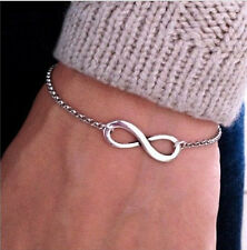 Top Sell Ancient Silver Fashion Punk Style Infinite Infinity Pattern Bracelets