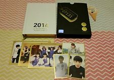 BTS (Bangtan Boys) 2014 MD Diary/Season's Greetings: GROUP + 3 MEMBER PHOTOCARDS