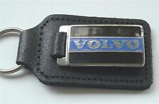 VOLVO ENAMEL BADGED LEATHER KEYRING, KEY CHAIN, KEY FOB