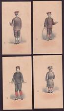 Lot of (4) Vintage 1880s Clothing Cards