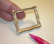 Miniature Elegant Gold Resin Frame (MEDIUM): DOLLHOUSE Miniatures 1/12 Scale