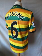Authentic Norwich City 2015/16 3rd Shirt PLAYER ISSUE Match Prepared BASSONG 6