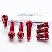 AUDI TT  Mk1 fuel flap anodized bolts in RED!!!! WOW
