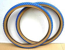 Pair DURO 26 x1.75 BMX Bike Gum Wall Tires Blue ( 2 )