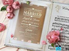 50 personnalisé rustique pays shabby chic mariage invitations! l'inviter shack