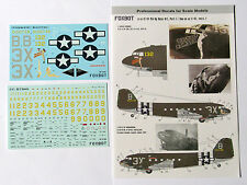 Foxbot - 72-017 - C-47 Pin-Up Nose Art and stencils, Part I - 1:72   *** NEW ***