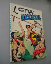 """ZAGOR SCRITTA ROSSA L.350 N° 50 """"LA CITTA' NASCOSTA"""" BUONO"""