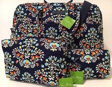 Vera Bradley CHANDELIER FLORAL WEEKENDER & COSMETIC SET Travel Bag Tote Duffel
