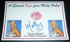 Molly Holly Signed Lip Print w/ Kiss 4x6 Card WWE PSA/DNA COA Autograph Diva 1