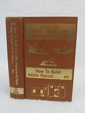 Ray G. Scott  HOW TO BUILD YOUR OWN UNDERGROUND HOME  Tab Books  c. 1979