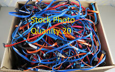 Mixed Bulk Lot 20 SATA Hard Drive Cable Various Length Color Desktop/Laptop HDD