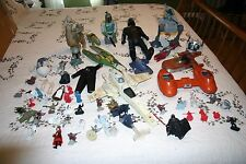 Large 56 Piece Star Wars Lot of Vehicles and Figurines Some Vintage 1970's