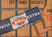 Publicité 1963  ( Double page ) PETIT BRUN EXTRA fameux biscuits