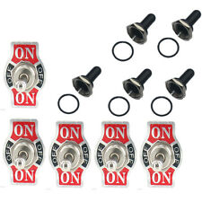 5x 20A 125V SPDT 3 Term (ON)-OFF-(ON) Toggle Switch w/Boot US Shipping