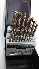 Heller quality German drill bit set of 25 HSS-Co Cobalt DIN 338 RN 1 to 13mm NEW