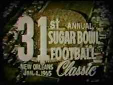 1965 Sugar Bowl Football DVD LSU vs SYRACUSE McLendon Schwartzwalder SOUND