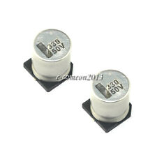 New 10PCS 50V 330UF SMD Aluminum Electrolytic Capacitors Size 10*10.2MM