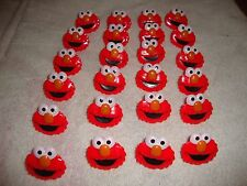 BAKERY SESAME STREET ELMO CUPCAKE Decorating rings toppers 24 PIECES
