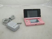 Nintendo 3DS Color Pink w/ Power Adapter Tested Works Factory Reset