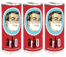 3 Arko Shaving Soap Stick 70 gm (set of 3) - FAST Shipping - USA Seller