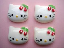 20 Pink Cherry Bow Hello Kitty Cabochon Craft Resin Flatbacks/Embellishment B26
