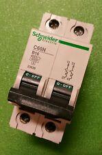 Schneider 2polig C60N Sicherungsautomat B16A Leitungsschutzschalter 23639 B16