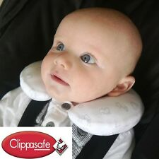Clippasafe Baby Neck Support Travel Pillow - From Birth - Safari Print