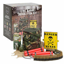 Kids Army Camouflage Demolition Kit - Includes Toy Bullet Belt / Fake Dynamite