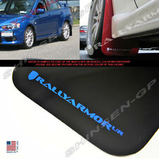RALLY ARMOR UR BLACK MUD FLAPS FOR 2008-2014 LANCER EVO EVOLUTION X w/ BLUE LOGO